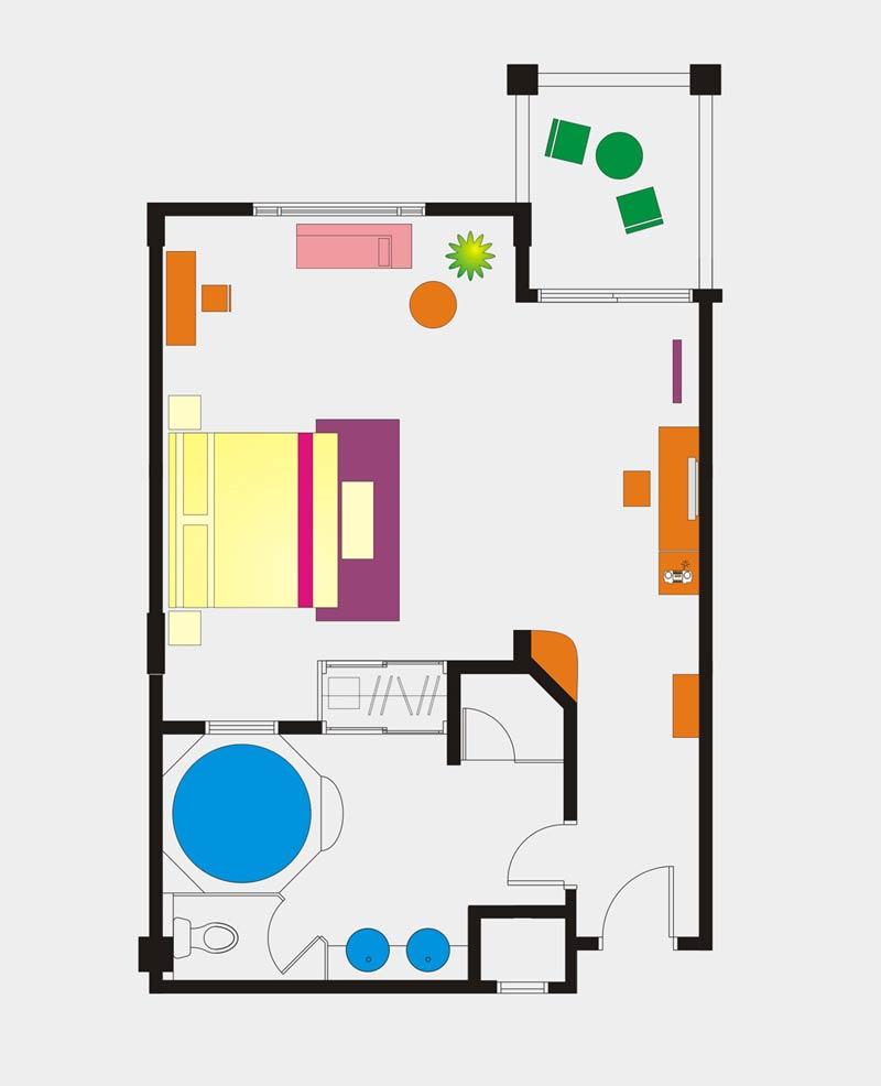 Club Suite room floor Plan