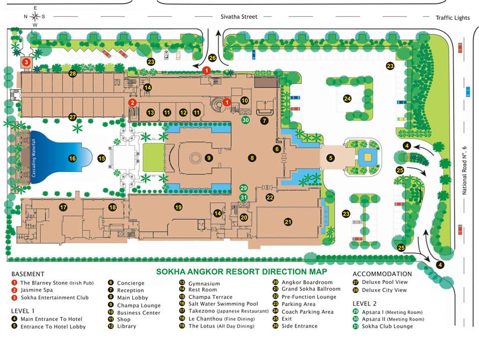 Map Sokha Angkor Resort
